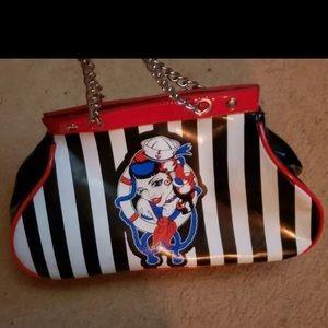 Too fast striped sailor purse